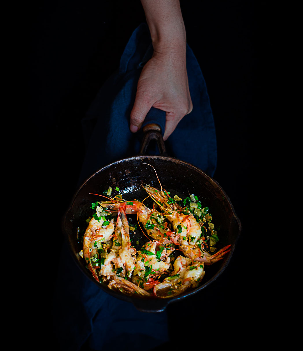 Coriander Garlic Butter Prawns