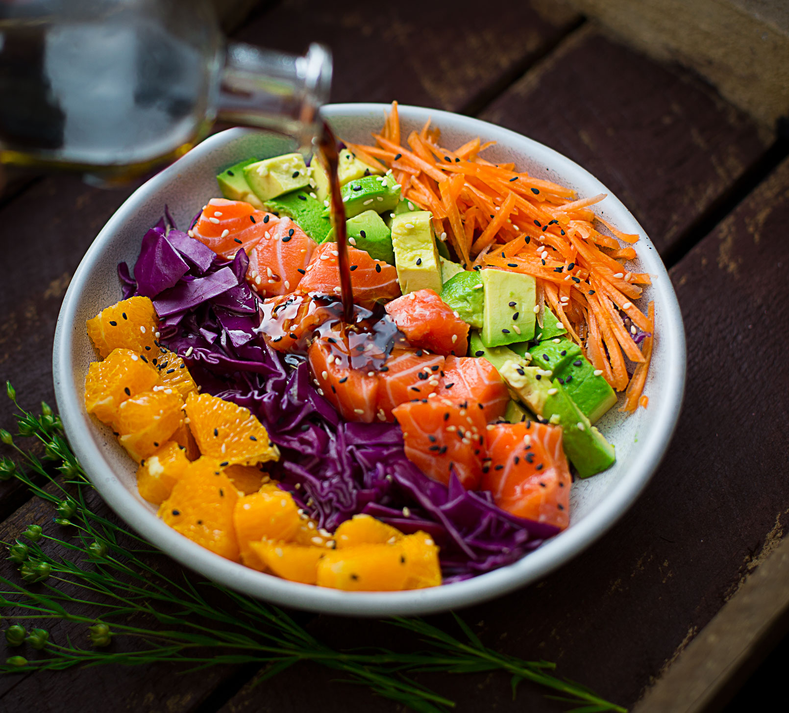 Rainbow Salmon Salad Bowl