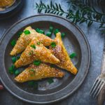 Five-Spice Pork and Onion Pastry Triangles